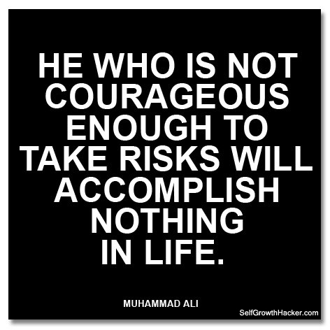 Self Confidence Quotes - He who is not courageous enough to take risks will accomplish nothing in life.